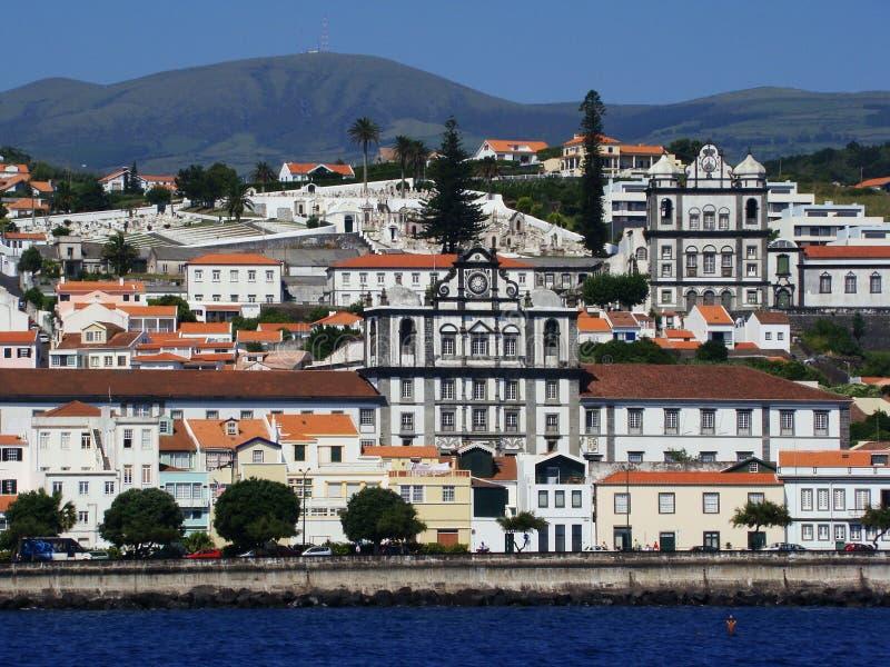Horta_city_Faial_Azores imagens de stock royalty free
