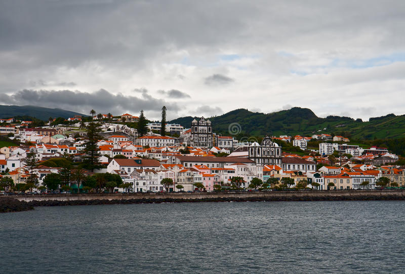Horta, The View From The Sea Stock Photos