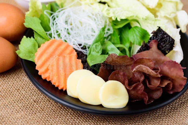 Hortalizas, cocina tailandesa suki imágenes de archivo libres de regalías