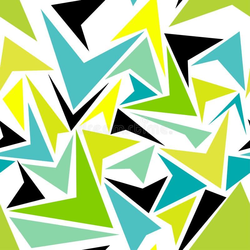 Hortelã abstrata do vetor, fundo dos triângulos Teste padrão imagens de stock royalty free