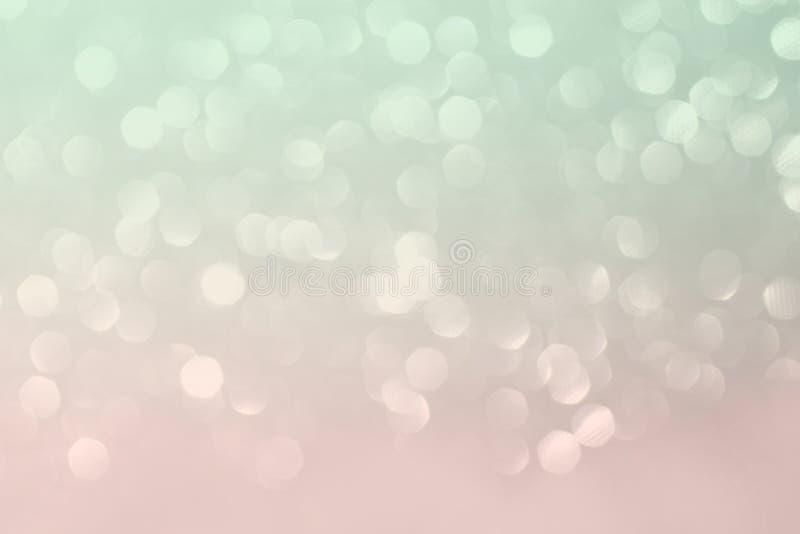 Hortelã e fundo de brilho cor-de-rosa foto de stock