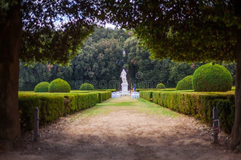 Horti Leonini,圣奎里科多尔恰,托斯卡纳,意大利 库存图片