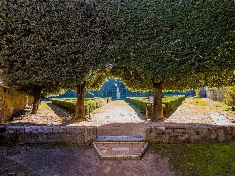 Horti Leonini, ` Orcia Sans Quirico d lizenzfreies stockbild