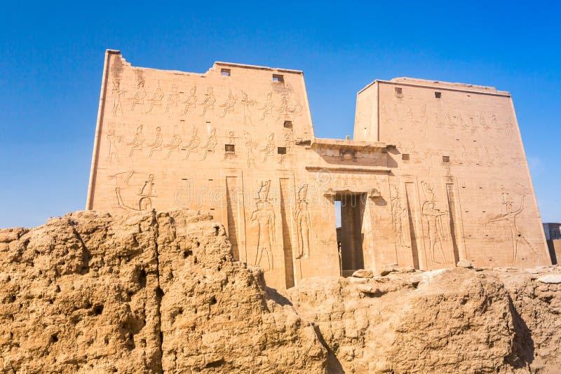 Horus寺庙,埃德富,埃及 免版税库存照片