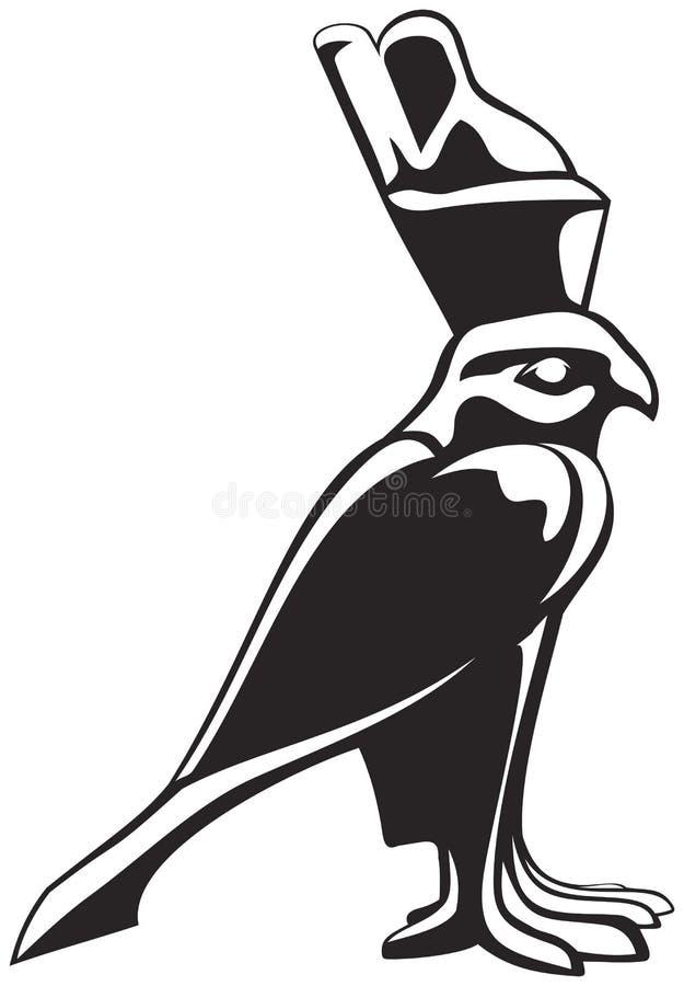 Horus猎鹰 向量例证