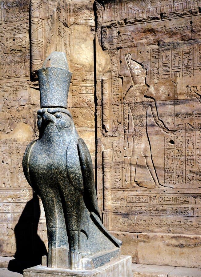 Horus,埃德富寺庙  免版税库存图片