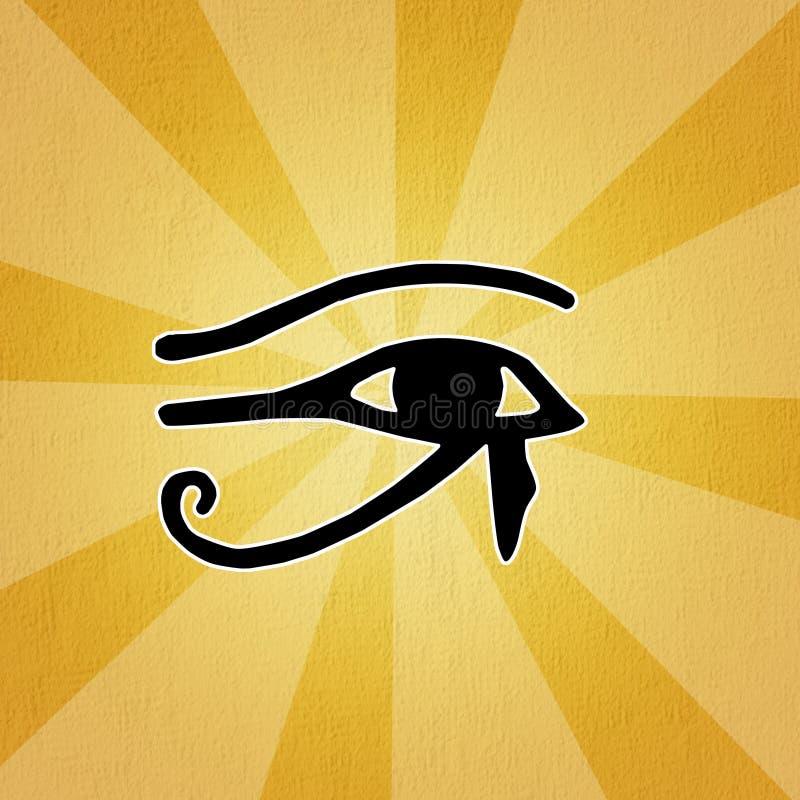 Horus öga royaltyfri illustrationer