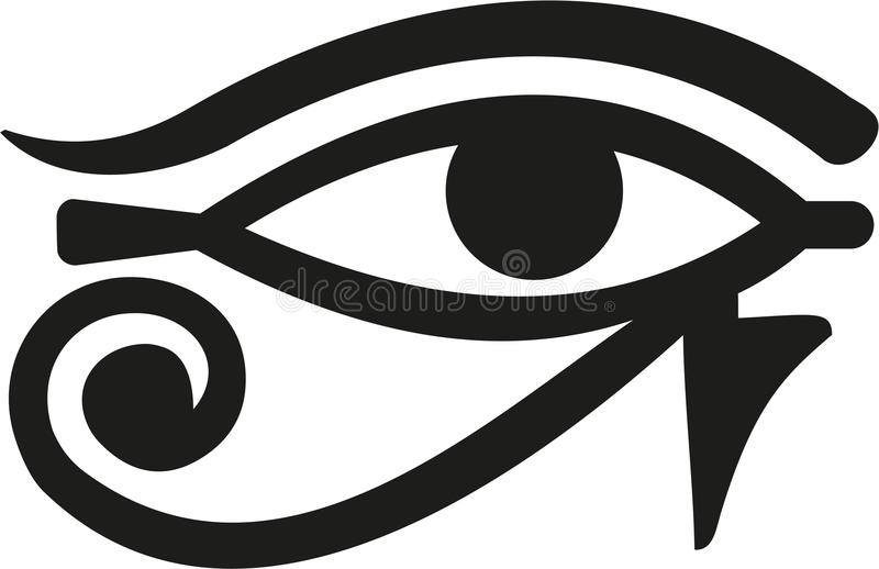 Horus öga Egypten royaltyfri illustrationer