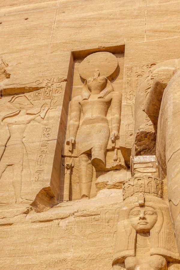 Horus Abu Simbel photos libres de droits