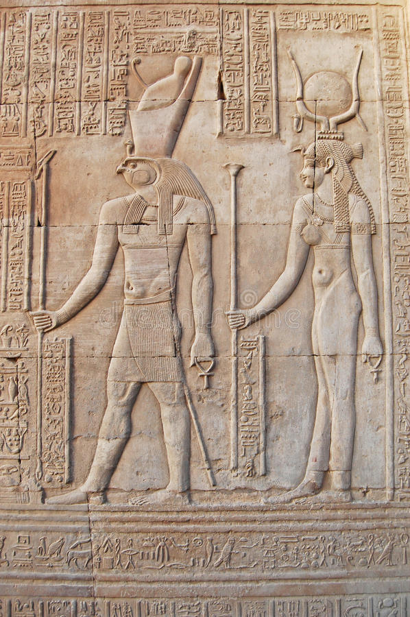 Horus & Isis em Luxor fotografia de stock royalty free