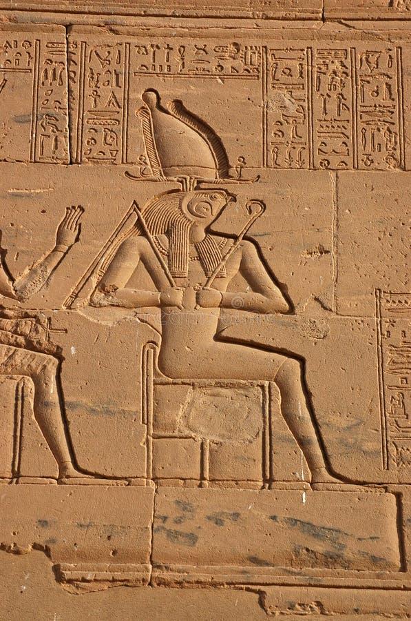 Horus assentou fotografia de stock
