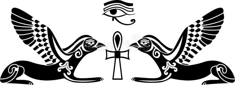 horus egipski stencil ilustracji