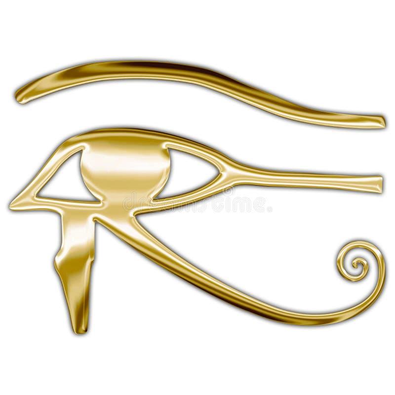 Horus egyptian symbol, metallic style vector illustration