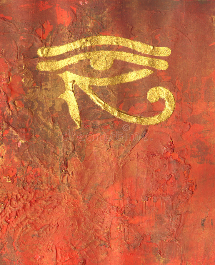 Horus Eye painting royalty free illustration