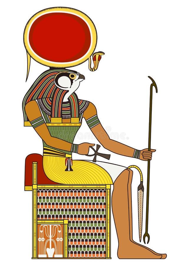 Horus, figura isolata del dio di egitto antico illustrazione vettoriale