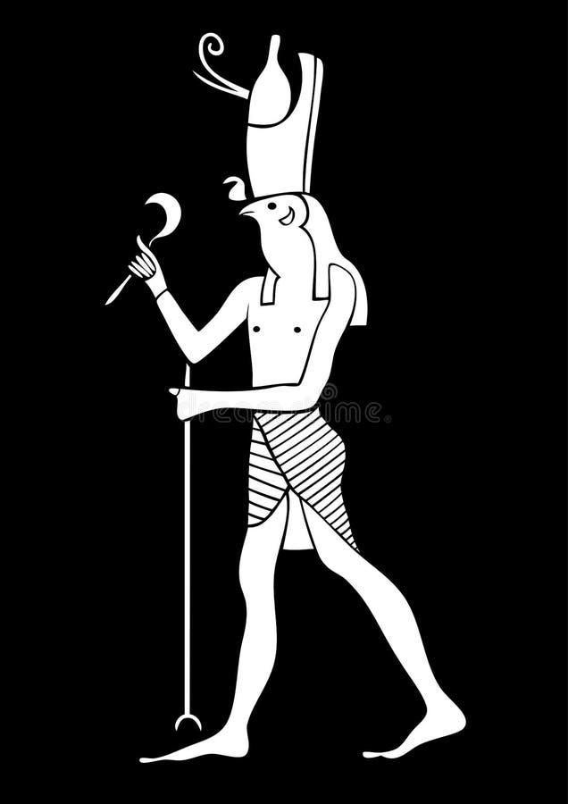 Horus - God of Ancient Egypt. Illustration of the Horus - God of Ancient Egypt. God of the sky and kingship vector illustration