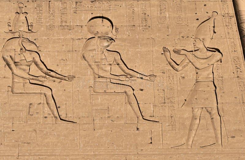 Download Horus god hieroglyph stock photo. Image of pharaoh, edfu - 12314572