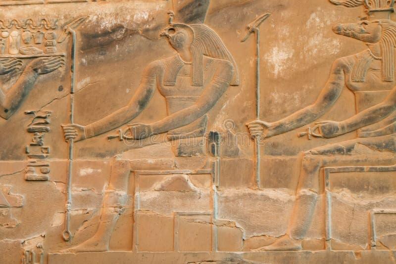 Horus que se sienta delante de Sobek fotos de archivo