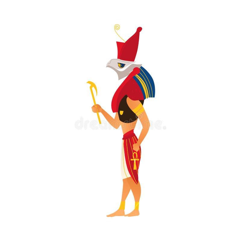 Horus, un dieu de ciel dans la religion d'Egypte antique illustration libre de droits