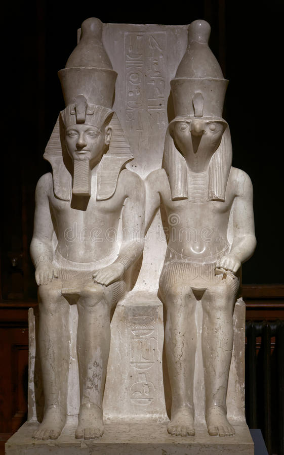 Horus und Haremhab royalty free stock photos