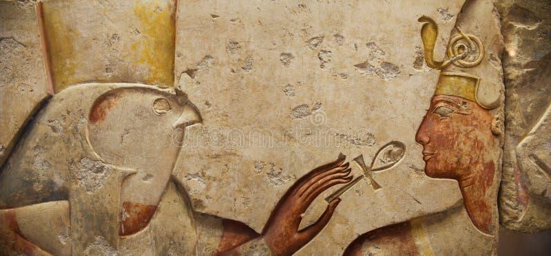 Horus y el Pharaoh imagenes de archivo