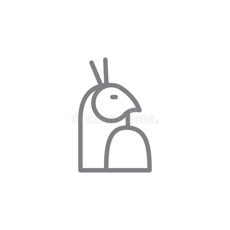 horussymbol Best?ndsdel av myphologysymbolen Tunn linje symbol f?r websitedesignen och utveckling, app-utveckling h?gv?rdig symbo stock illustrationer