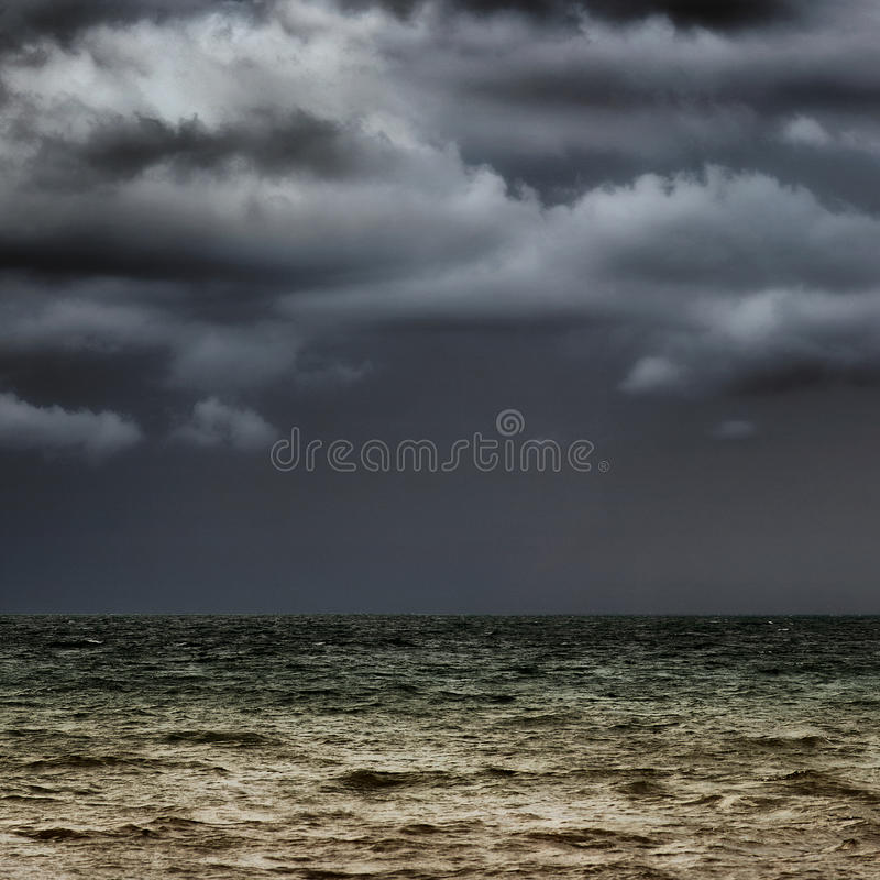 horyzont burzliwe zdjęcie royalty free
