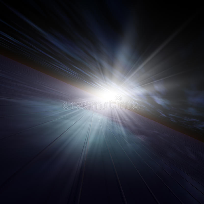 horyzont ciemna gwiazda ilustracji