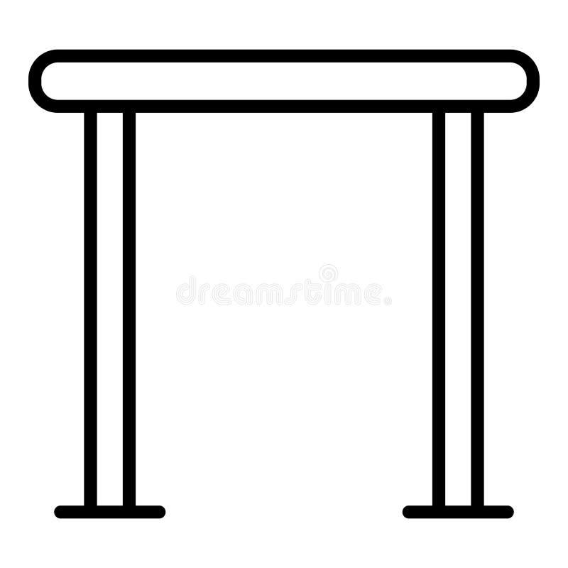 Horyzontalna crossbar ikona, konturu styl ilustracja wektor