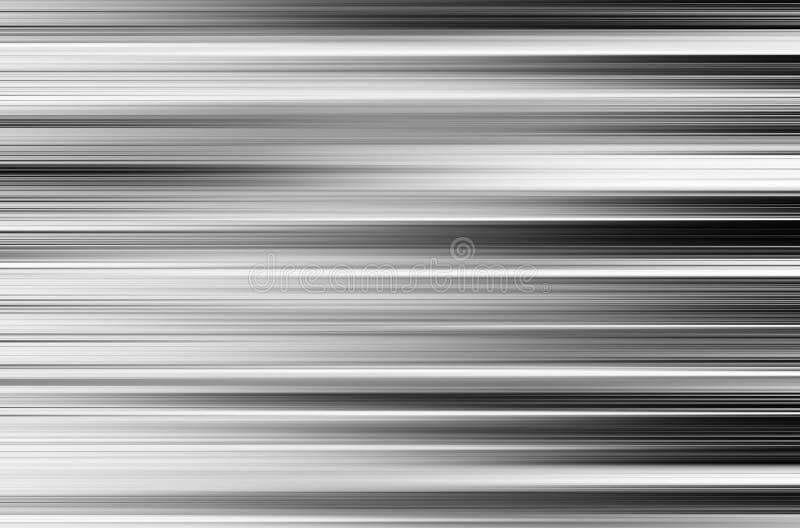 Horyzontalna czarny i biały ruch plama kasetonuje tło fotografia stock