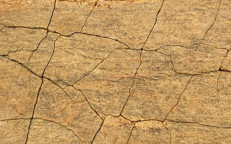 Horyzontalna rama krakingowej rockowej tekstury naturalny tło obraz stock