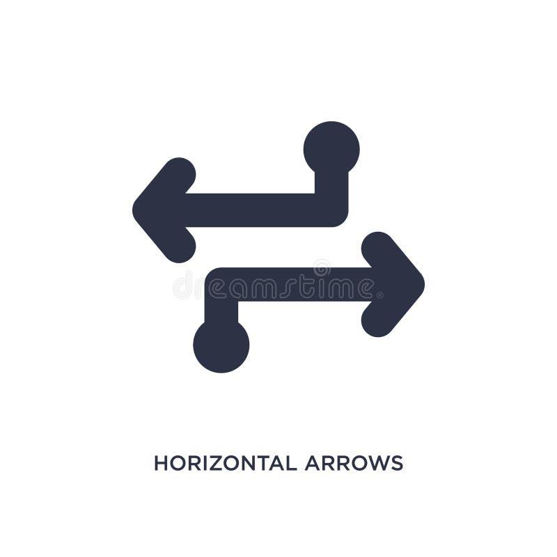 horyzontalna strzały ikona na białym tle Prosta element ilustracja od strzał 2 pojęcia ilustracja wektor
