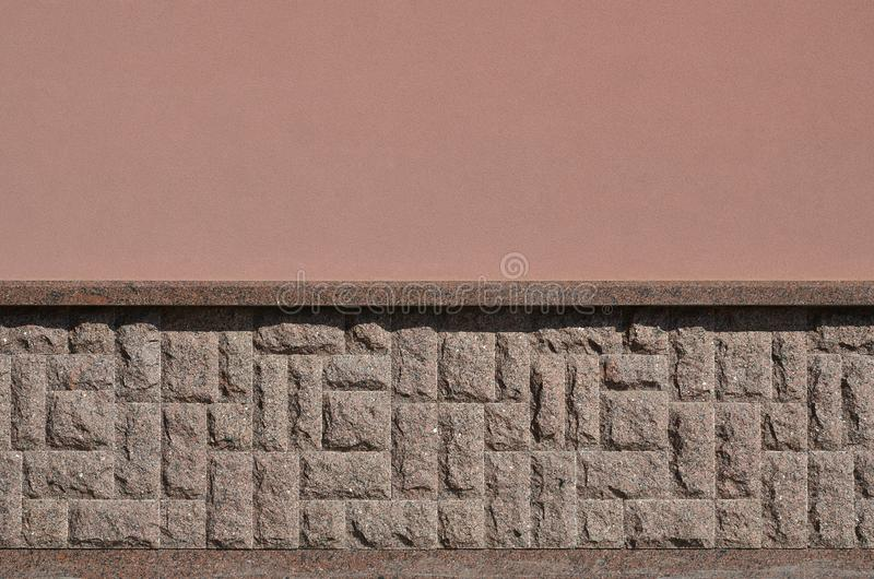Horyzontalna tekstura prostacki i silny mozaika granitu kamienia fou obraz stock