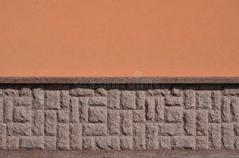 Horyzontalna tekstura prostacki i silny mozaika granitu kamienia fou zdjęcie stock