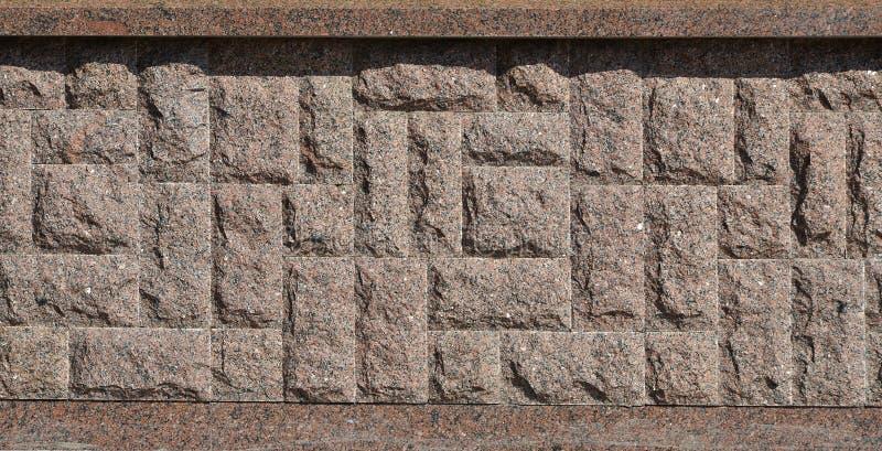 Horyzontalna tekstura prostacki i silny mozaika granitu kamienia fou zdjęcia royalty free