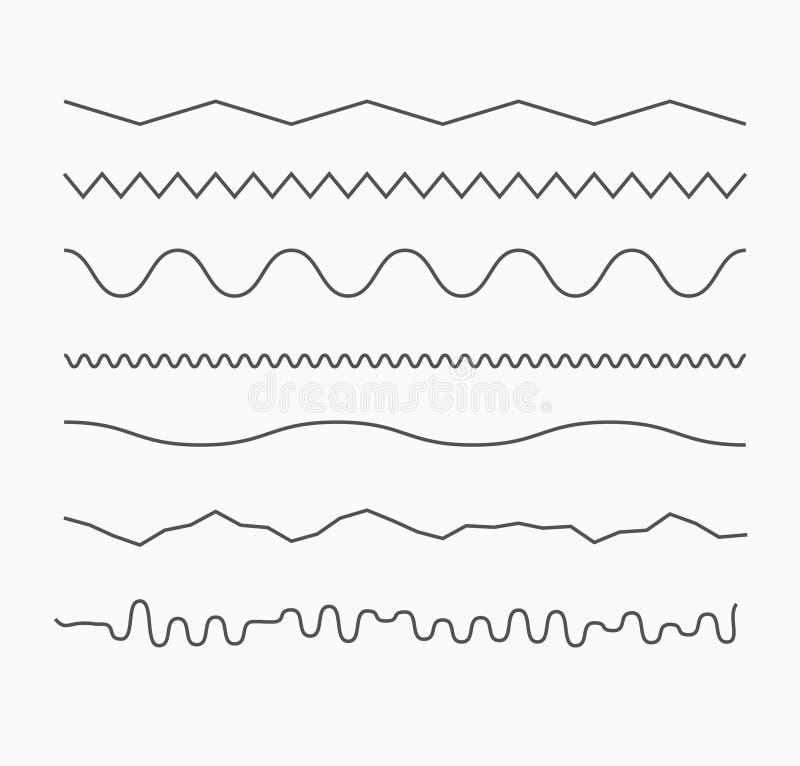 Horyzontalne fala linie royalty ilustracja