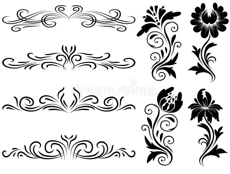 horyzontalni dekoracja elementy royalty ilustracja