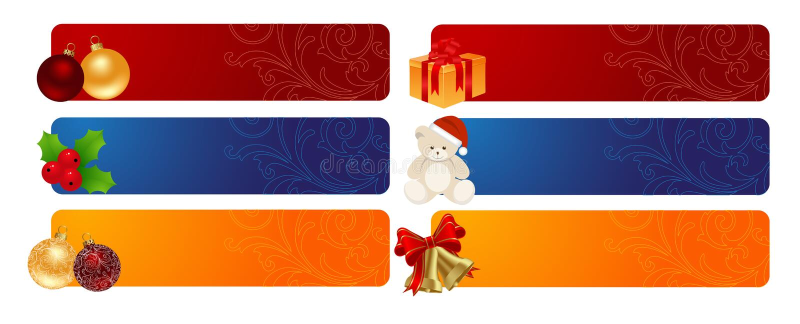 Horyzontalni Tło Boże Narodzenia Fotografia Stock