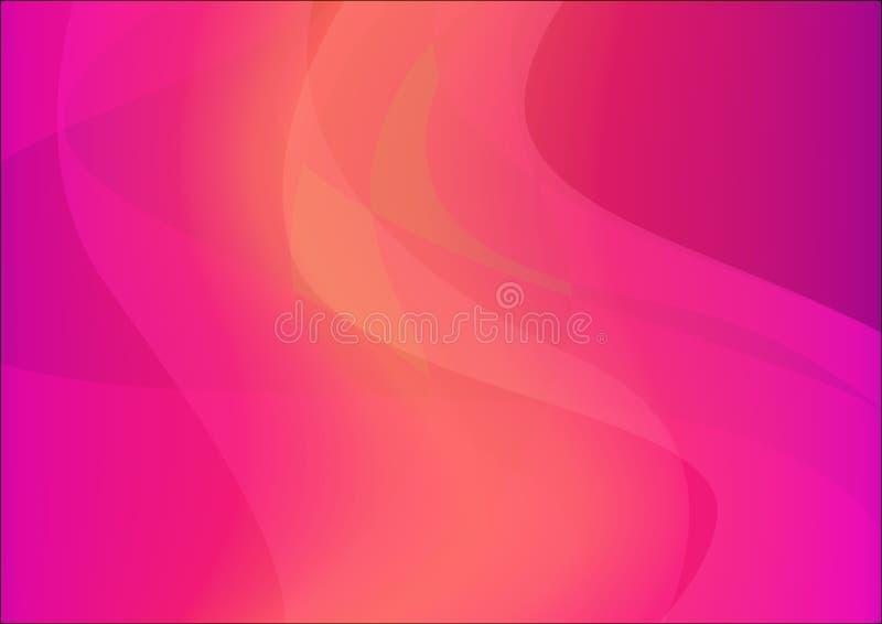 Horyzontalny Abstrakcjonistyczny tło menchii kolor - Wektorowa Magenta tapeta w A4 dla ulotki, broszurki i sztandaru projekta, ilustracji