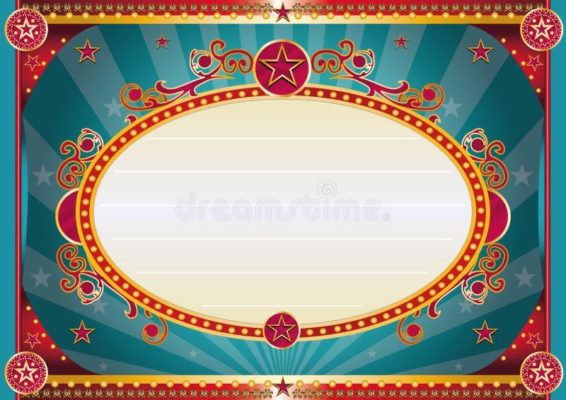 Horyzontalny Barokowy błękita znak royalty ilustracja
