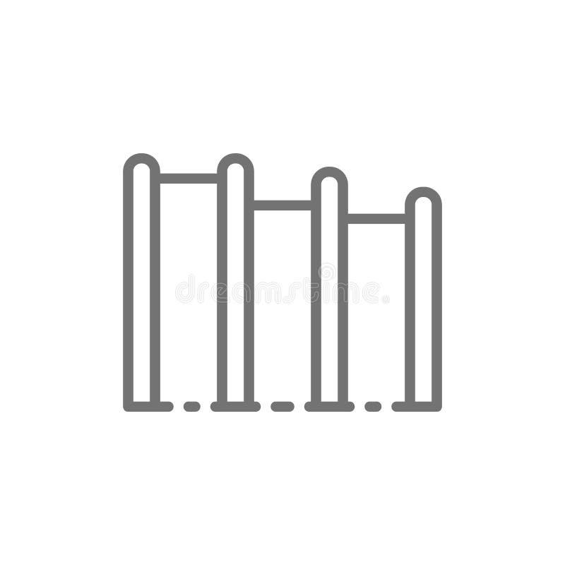Horyzontalny crossbar, boisko kreskowa ikona royalty ilustracja