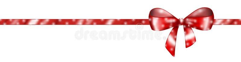 horyzontalny czerwony faborek ilustracji