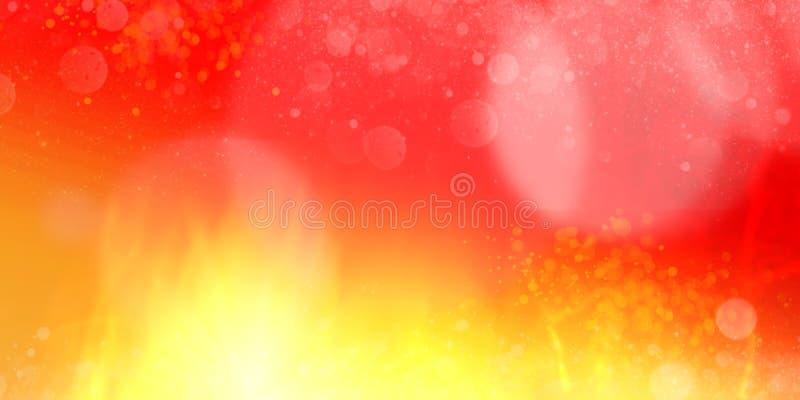 Horyzontalny czerwony koloru żółtego ogień płonie abstrakt bg royalty ilustracja