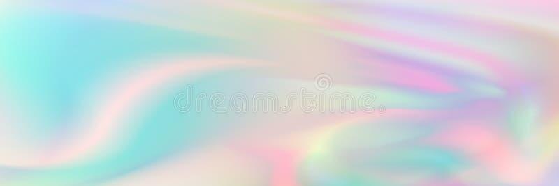 horyzontalny elegancki pastelowy holograficzny tekstura projekt dla wzoru i tła ilustracja wektor
