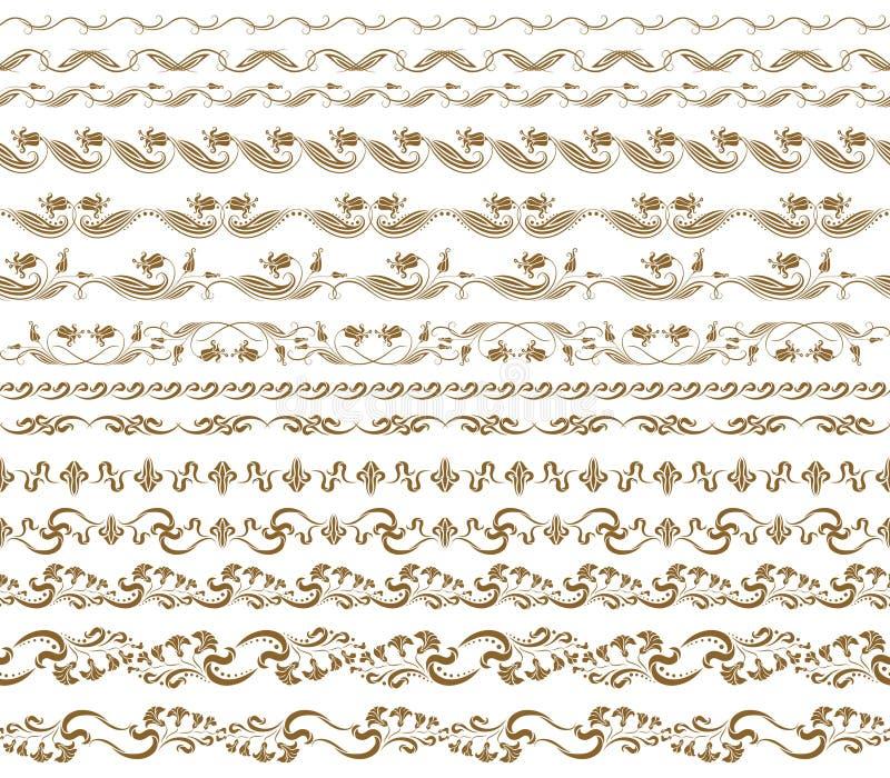 Horyzontalny elementów dekoraci wektor royalty ilustracja
