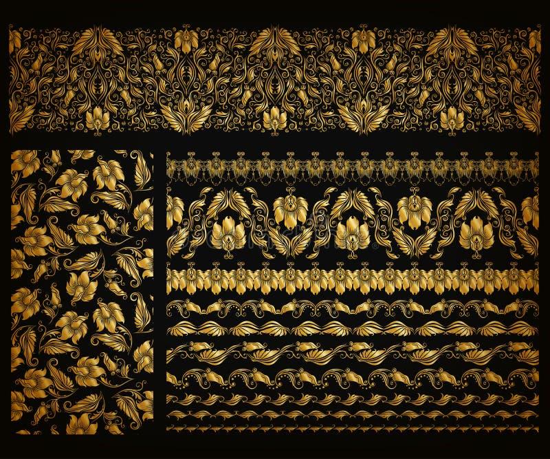 Horyzontalny element dekoraci wektor royalty ilustracja