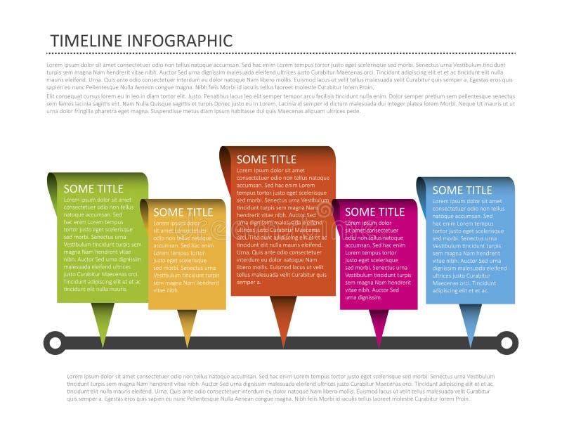 Horyzontalny linia czasu szablon ilustracji