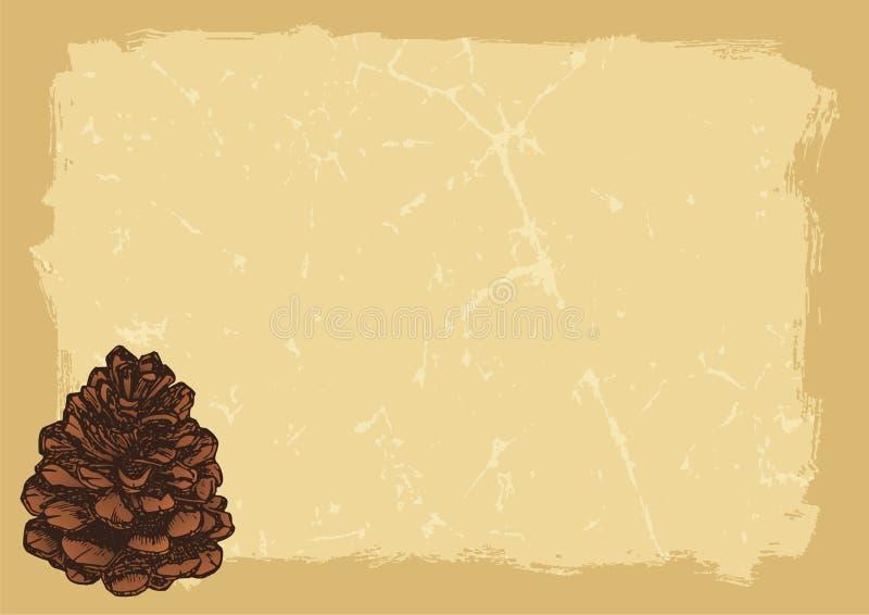 horyzontalny papierowy pinecone ilustracji