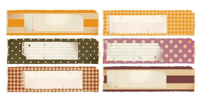 horyzontalny sztandaru papier ilustracji