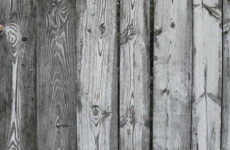 Horyzontalny wieśniak wietrzał starego malującego drewnianego tło z kępkami i gwóźdź dziurami DREWNO tekstura obraz stock